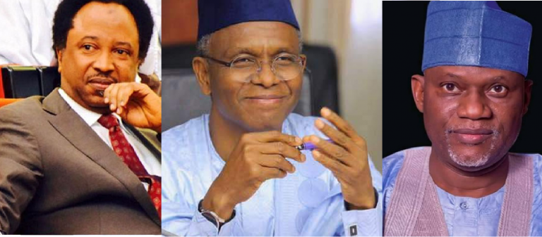 Image result for Governor Malam Nasir el-Rufai of Kaduna State said that former Senators Shehu Sani is now a blogger and Uthman Hunkuyi has relocated to China as he has retired them from politics.