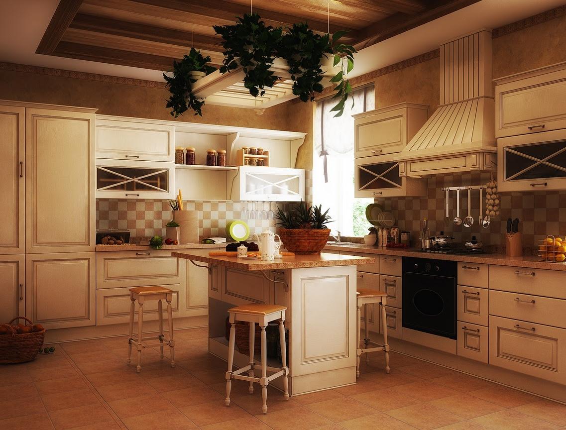 old world kitchen white Interior Design Ideas