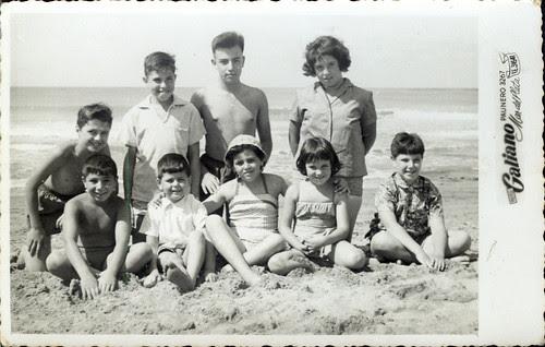 By the sea - nine kids