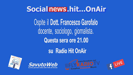 Questa sera su Radio Jobel inBlu , Socialnews.hit alle ore 21.00