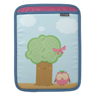 Cute kawaii owl Rickshaw iPad sleeve rickshawsleeve