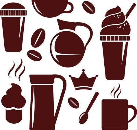 Simple coffee cup elements vector   Free download
