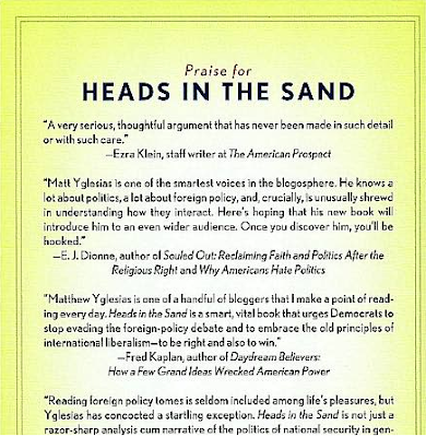 Yglesias: Heads in the Sand (back cover)