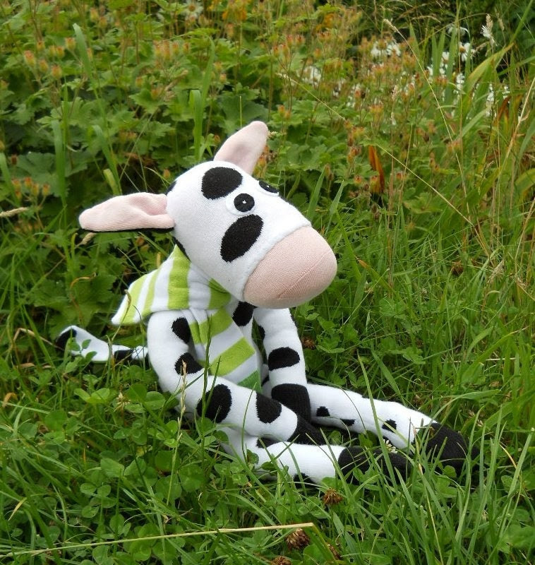 Sock cow, Clover- Reserved Listing for raedesignsinc