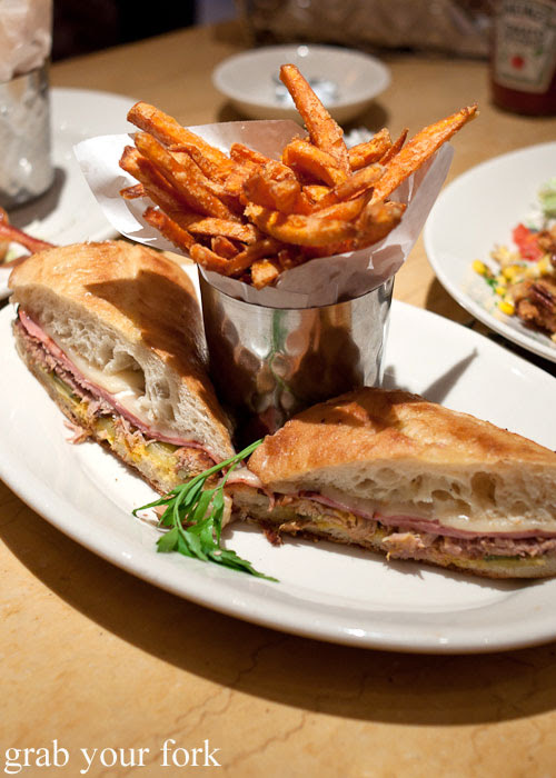 Cuban sandwich with sweet potato fries The Cheesecake Factory Chicago Illinois