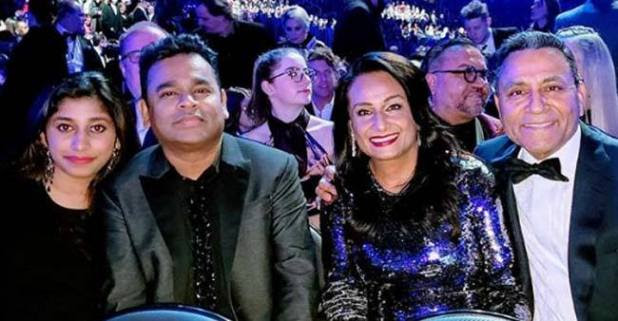 AR Rahman along with family taking a musical delight of the Grammy Awards in LA