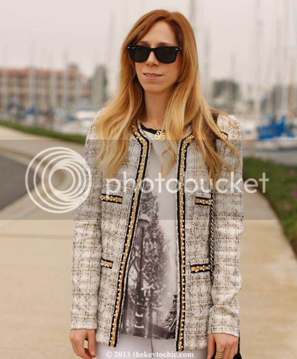 Boohoo Boutique Grace foil boucle jacket