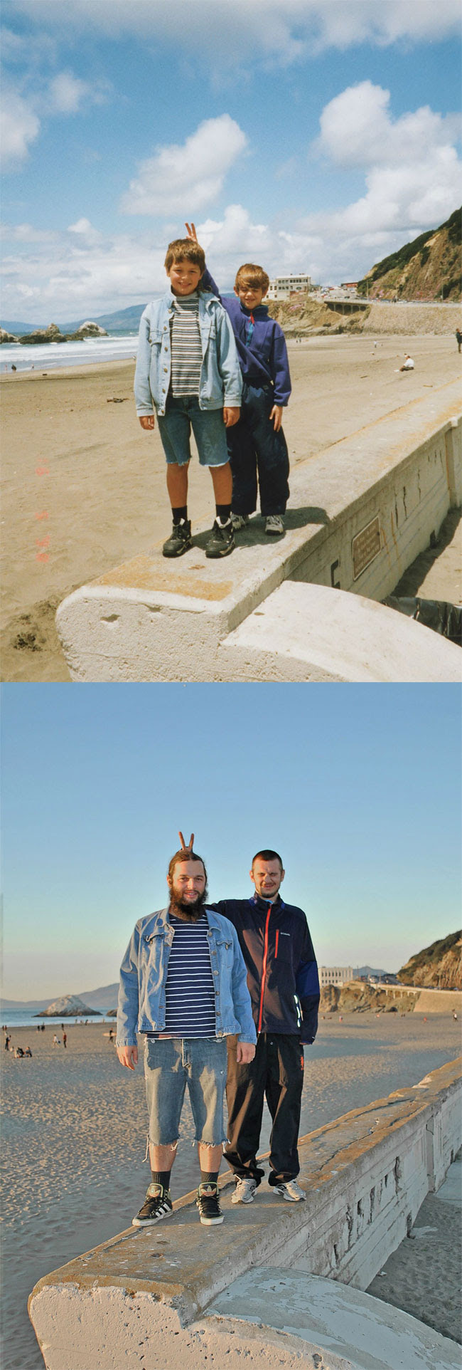 89 Amazing 12 page Calendar of Recreated Family Photos