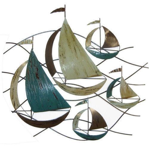 Metal Wall Art Boats | eBay