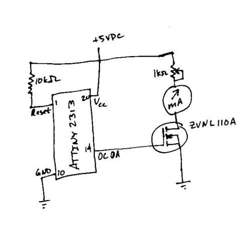 the engineerz notebook  pwm on the avr attiny2313