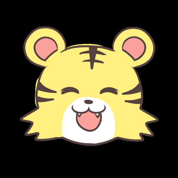 笑顔のトラのイラスト かわいいフリー素材が無料のイラストレイン