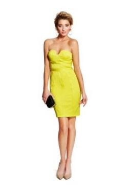 Marciano Adenna Strapless Pencil Dress