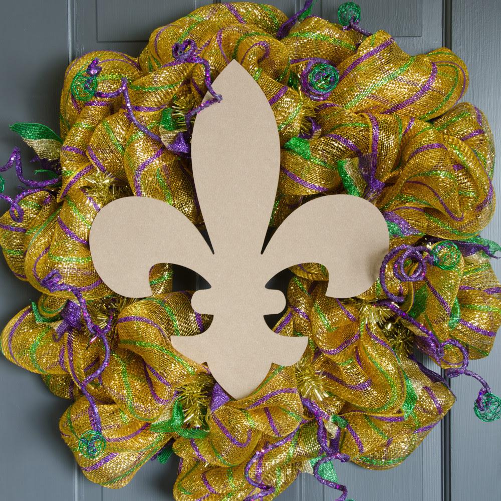 16 Wooden Fleur De Lis Decoration Natural Ab2231 Craftoutletcom