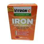 Vitron - C High Potency Iron Supplement Tablets - 60 Ea
