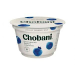 Chobani Non-Fat Greek Yogurt Blueberry on the Bottom 5.3oz (PACK OF 12)