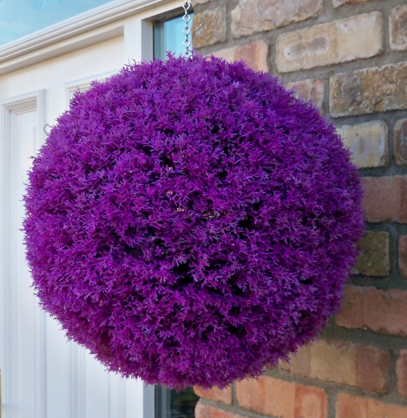 2 Best Artificial 40cm Purple Heather Topiary Lavender Balls Hanging Boxwood New  eBay