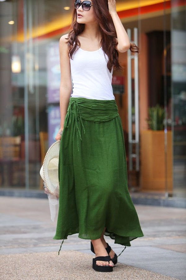 45 trendy maxi skirt outfits ideas for girls 2016