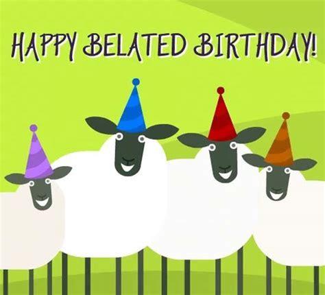 Belated Birthday Sheep Dance. Free Belated Birthday Wishes