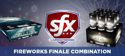 SFX Countermeasures and SFX Majestic Brocades: The Perfect Fireworks Finale Combination - Superior Fireworks