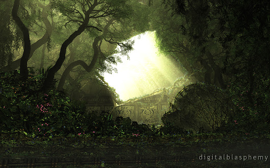 Digital Blasphemy 3D Wallpaper:  The Forgotten Way (2014) by Ryan Bliss