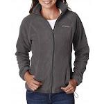 Columbia Women's Benton Springs Full Zip Fleece Jacket, Charcoal Heather