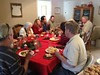 Christmas dinner with the family.