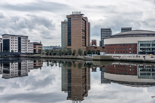 A Reflection Of The Hilton In The Waters Of The Lagan (Belfast) by infomatique