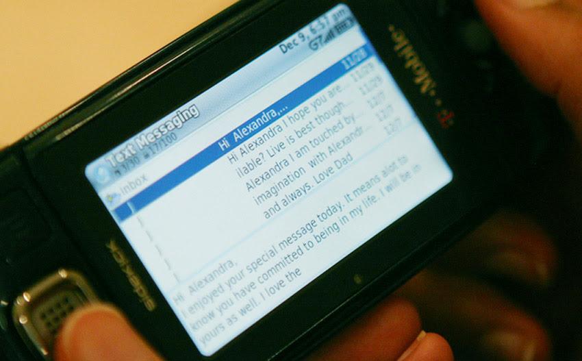 Alexandra's text messages