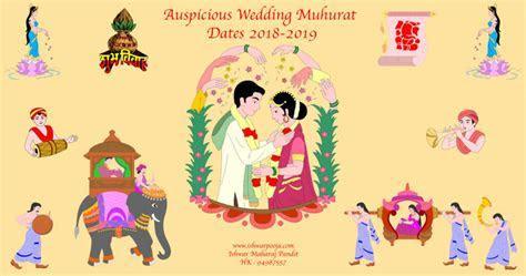 Auspicious Wedding Dates   Hindu Vivah Muhurat 2018 2019