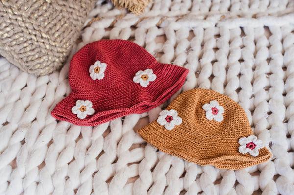 Free Bucket Hat Crochet Download with Flowers