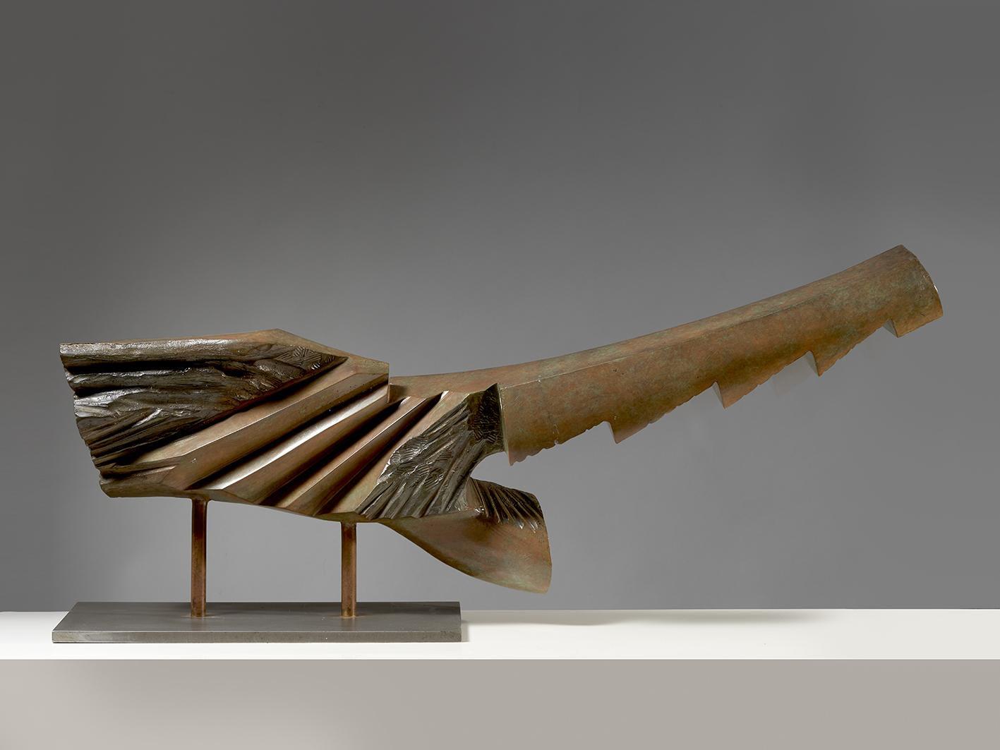 Guido Pinzani, Nuotatrice, 1990, bronzo, esemplare unico, cm 42x93x18