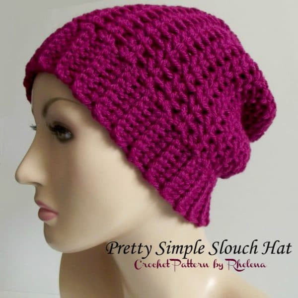 Patrón Bastante simple Slouch Hat ~ LIBRE ganchillo