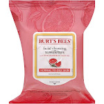 Burt's Bees Facial Cleansing Towelettes for Normal to Oily Skin, Pink Grapefruit - 30 count