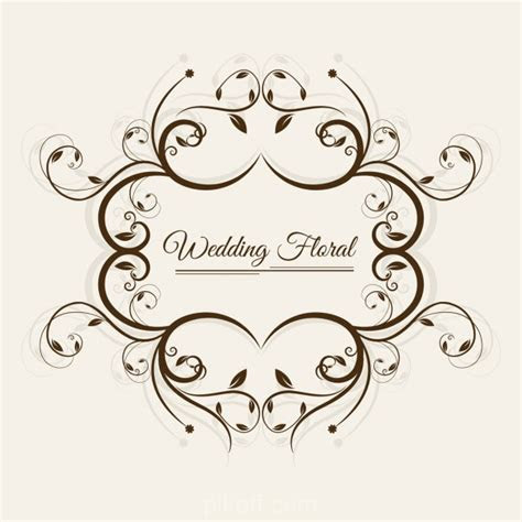 [Ai] Wedding floral frame vector free download   Pikoff