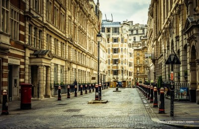 Fine Art Photography - Quiet Street in Bishopsgate - NickyJameson Fine Art Photography