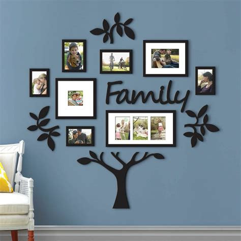 family tree collage photo picture frame set plaque