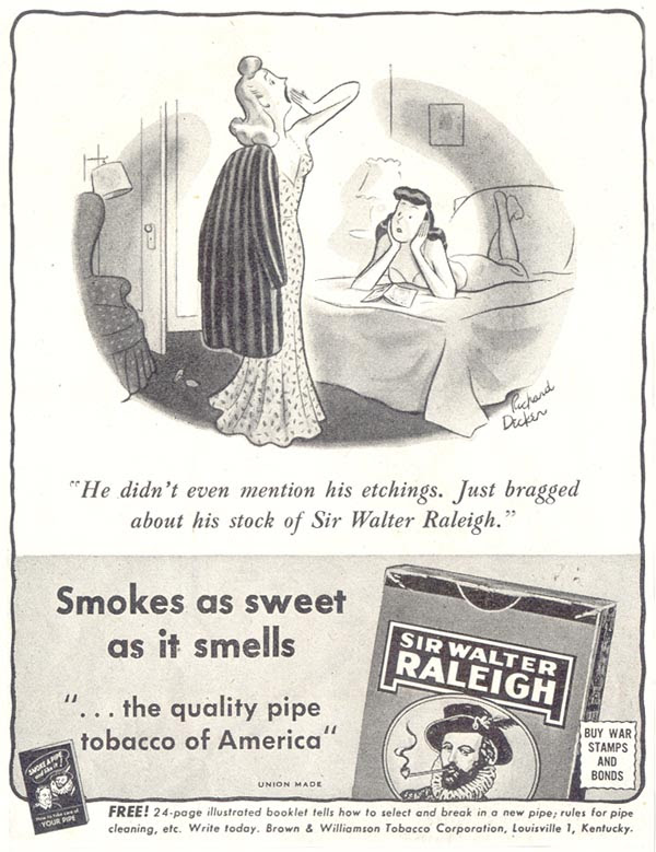 SIR WALTER RALEIGH PIPE TOBACCO SATURDAY EVENING POST 05/19/1945 p. 92