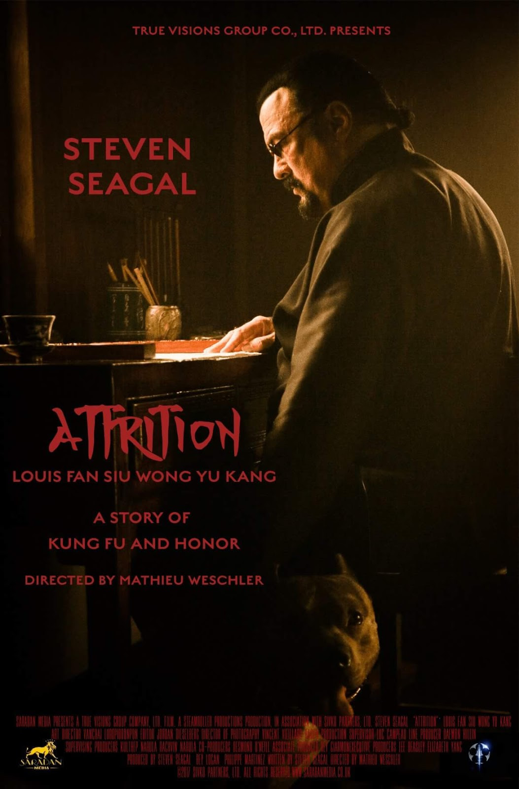ATTRITION: Sales Poster For Seagal Thriller Tells Of Kung Fu, Honor, And An Adorable Pitbull