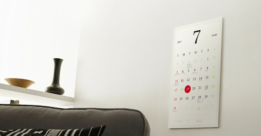 This pretty e-paper smart calendar is everything I want in a gadget