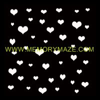 Heart to heart  poly template 8x8 sold in 3's