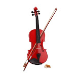 4/4 Red Acoustic Violin with Bow/Rosin/Case for Fiddle Beginner