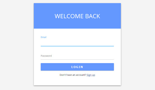 Login Form in Material Design with HTML and CSS - w3iscool