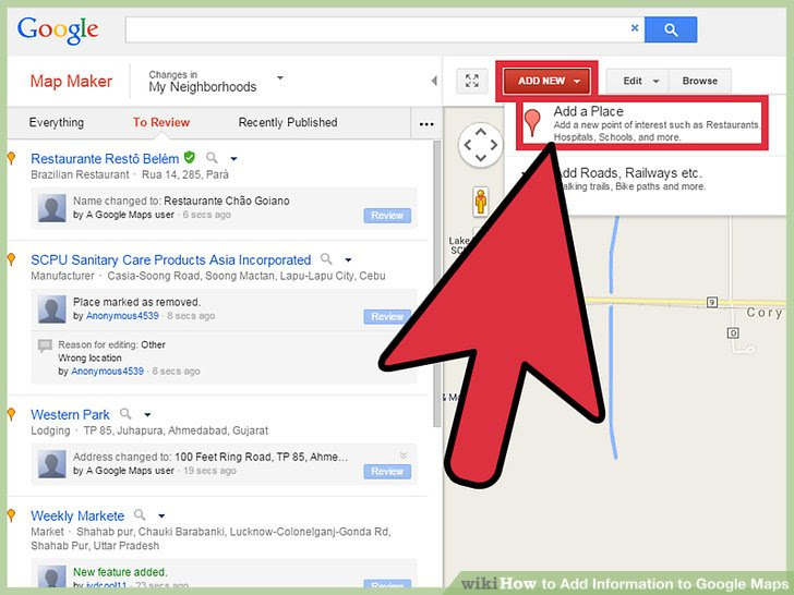How To Add Information To Google Maps With Pictures