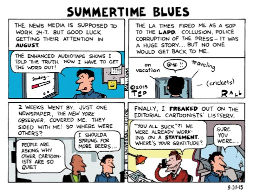 #TedRall LA Times LAPD Scandal: Summertime Blues [cartoon] http://ow.ly/R6l8l