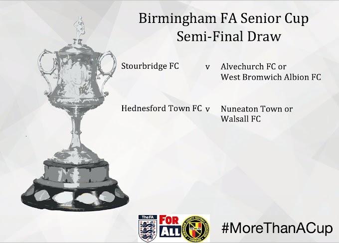Birmingham Senior Cup: Semi-Final Draw