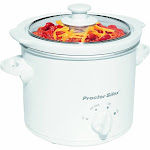 Proctor Silex Round Slow Cooker with Removable Crock - 1.5 qt - White