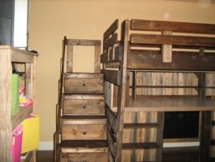 Loft Bed with Desk/Toy Box & Dresser Drawer Stair Case - by ...
