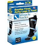 As Seen on TV Miracle Socks Anti-Fatigue Compression Socks - Black