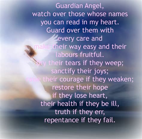 Guardian Angel Watch Over Me Quotes