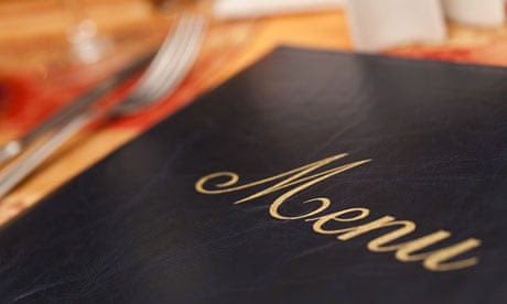 The psychology of menus